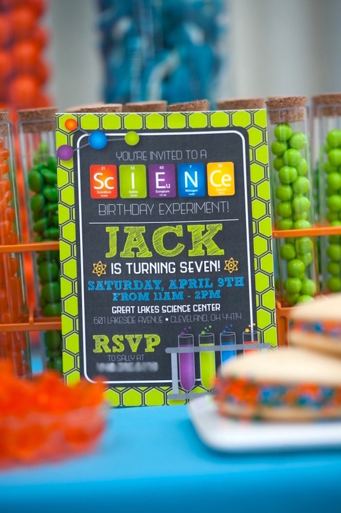 Kara\'s Party Ideas Modern Science Birthday Party | Kara\'s Party Ideas