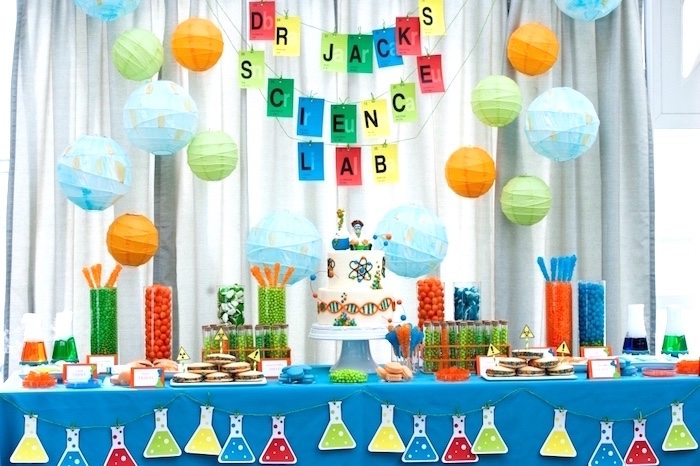 Sweet table from a Modern Science Birthday Party on Kara's Party Ideas | KarasPartyIdeas.com (43)