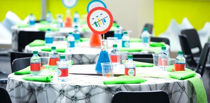 Modern Science Birthday Party on Kara's Party Ideas | KarasPartyIdeas.com (1)