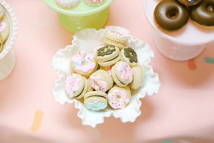 Donut cookies from a Pastel Donut Birthday Party on Kara's Party Ideas | KarasPartyIdeas.com (28)