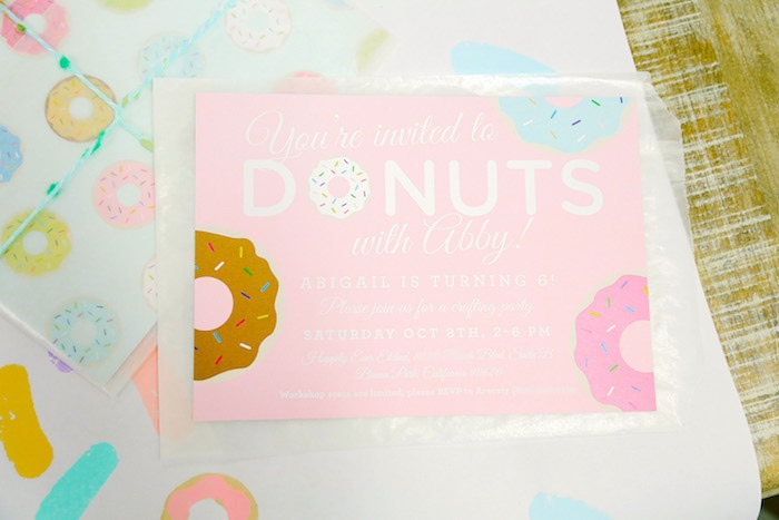 Donut invitation from a Pastel Donut Birthday Party on Kara's Party Ideas | KarasPartyIdeas.com (13)