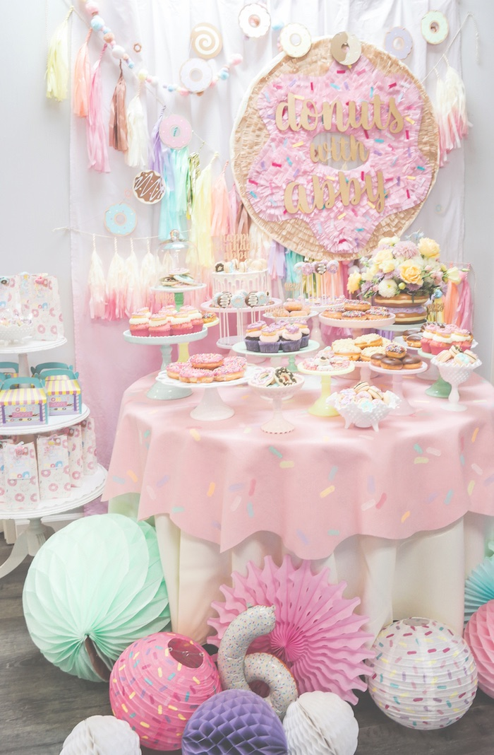 Karas Party Ideas Pastel Donut Birthday Party Karas Party Ideas