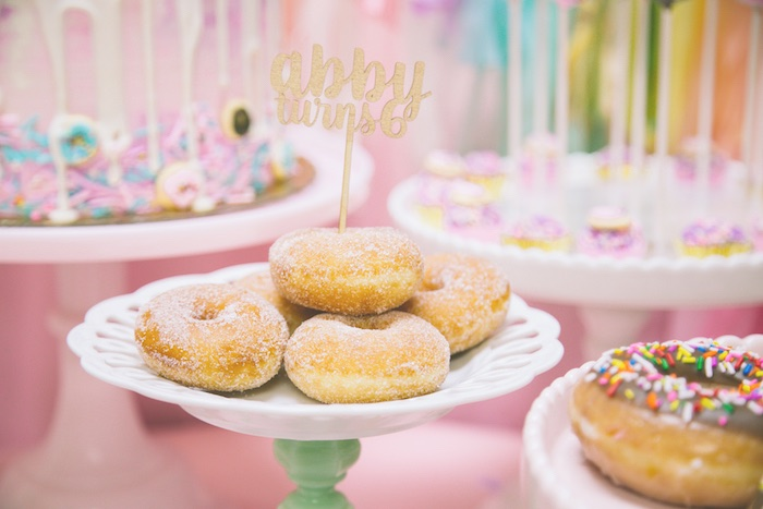Sugared donuts from a Pastel Donut Birthday Party on Kara's Party Ideas | KarasPartyIdeas.com (2)