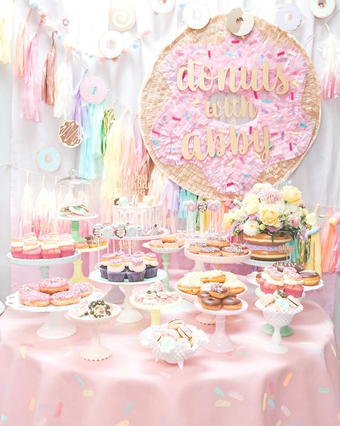Kara S Party Ideas Pastel Donut Birthday Party Kara S