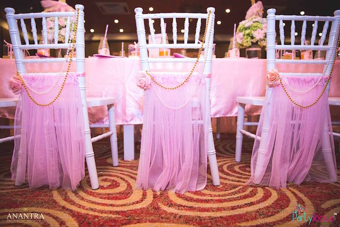 Chair backs from a Pink Ballerina Birthday Party on Kara's Party Ideas | KarasPartyIdeas.com (16)