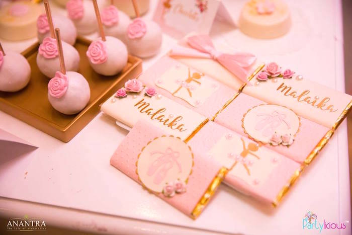 Ballerina candy bar labels from a Pink Ballerina Birthday Party on Kara's Party Ideas | KarasPartyIdeas.com (15)