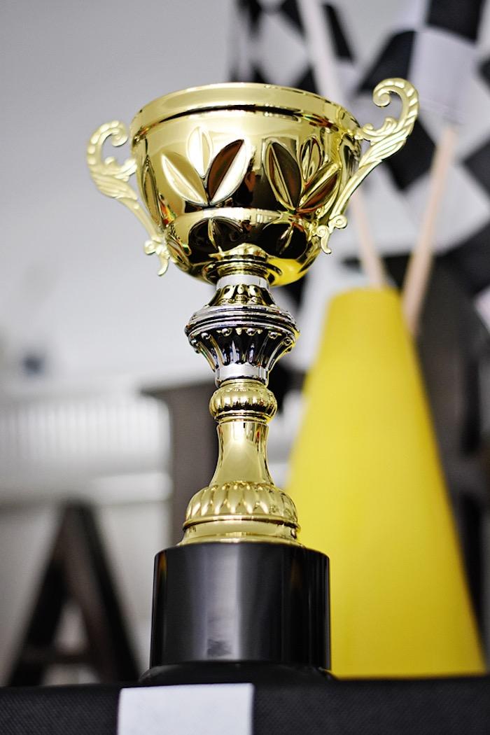 Trophy from a Race Car Birthday Party on Kara's Party Ideas   KarasPartyIdeas.com (24)