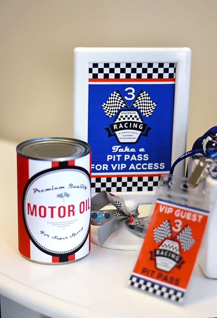 Racing party signage from a Race Car Birthday Party on Kara's Party Ideas | KarasPartyIdeas.com (14)