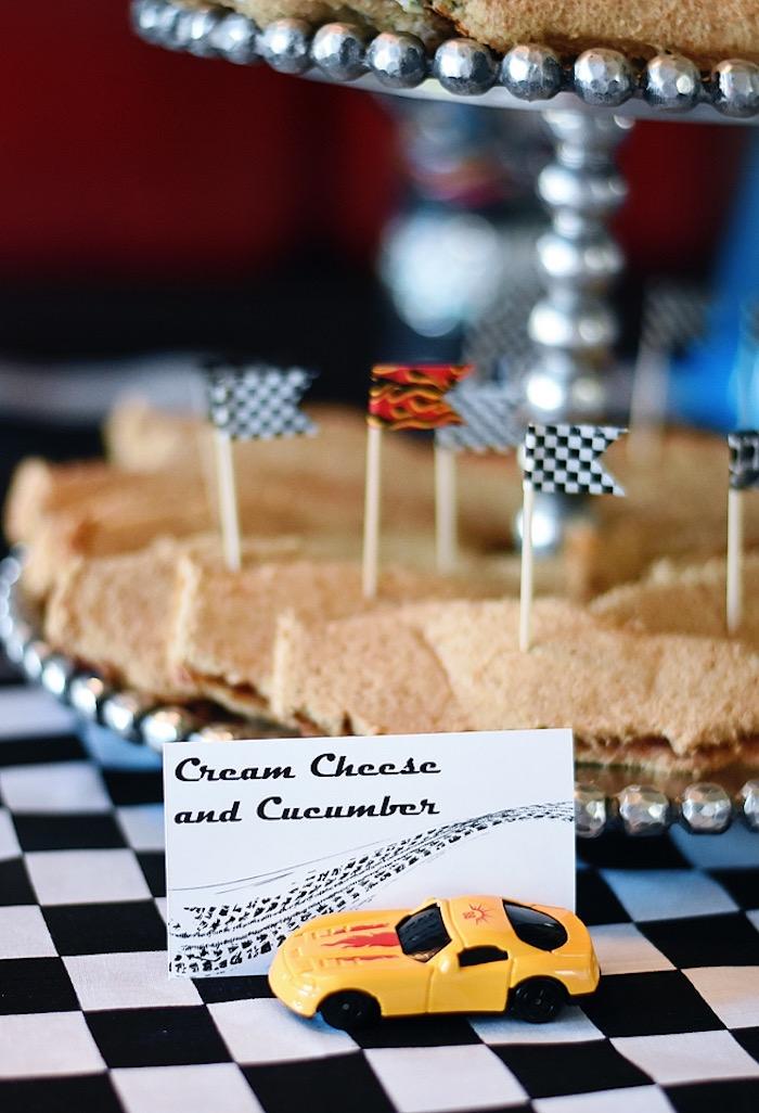 Sandwiches from a Race Car Birthday Party on Kara's Party Ideas   KarasPartyIdeas.com (9)