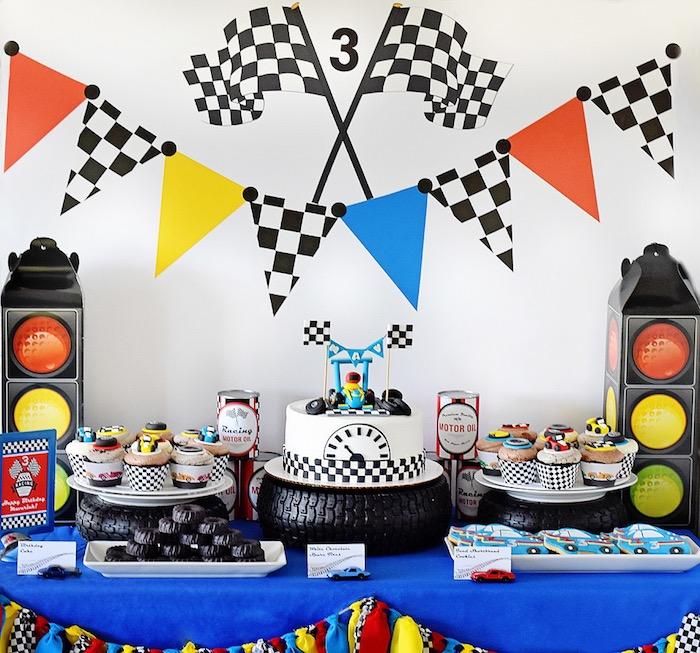 Karas Party Ideas Mavericks Speedy Race Car Birthday Party