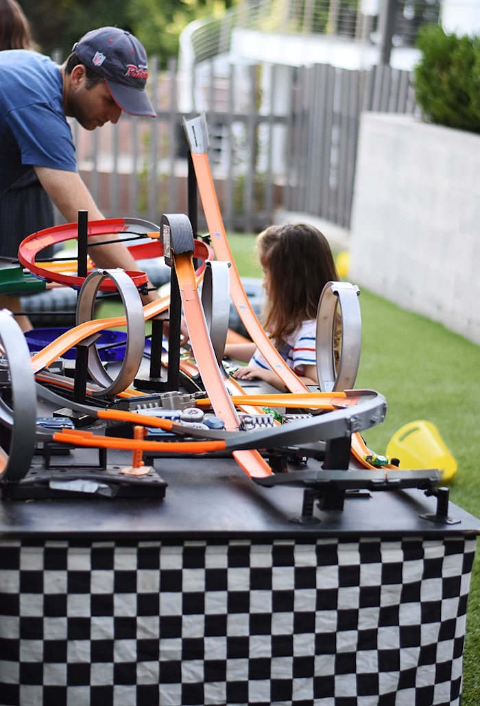 Race tracks from a Race Car Birthday Party on Kara's Party Ideas | KarasPartyIdeas.com (4)