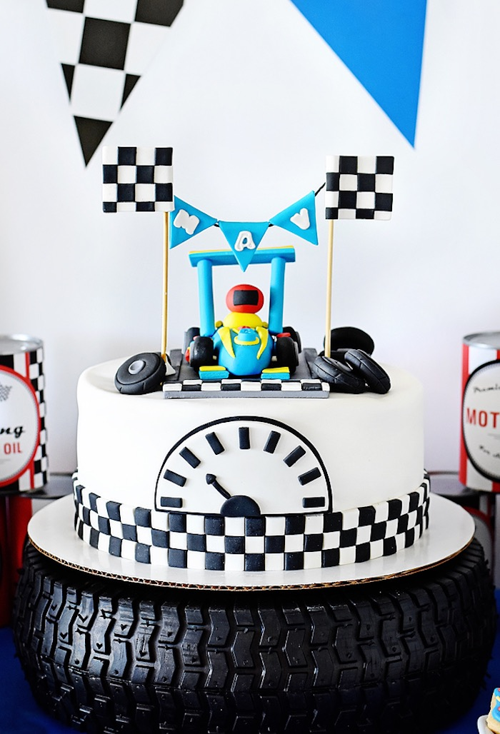 Incredible Karas Party Ideas Mavericks Speedy Race Car Birthday Party Funny Birthday Cards Online Elaedamsfinfo