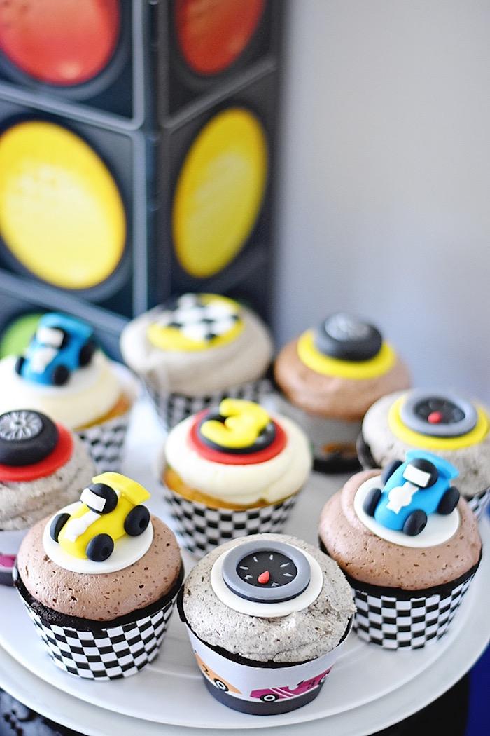 Raceway cupcakes from a Race Car Birthday Party on Kara's Party Ideas | KarasPartyIdeas.com (41)