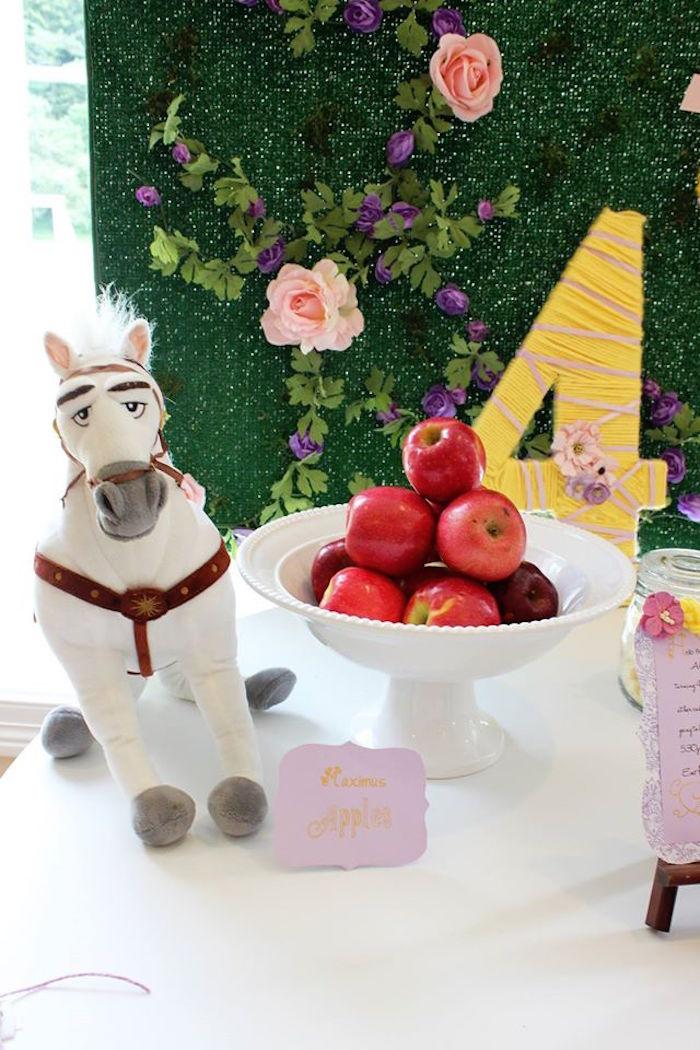 Maximus' apples from a Rapunzel Birthday Party on Kara's Party Ideas | KarasPartyIdeas.com (17)