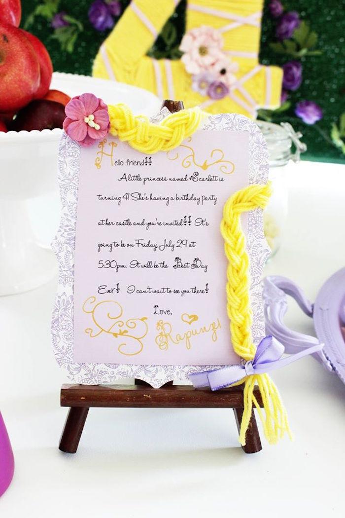 Karas Party Ideas Rapunzel Birthday Party – Rapunzel Party Invitations