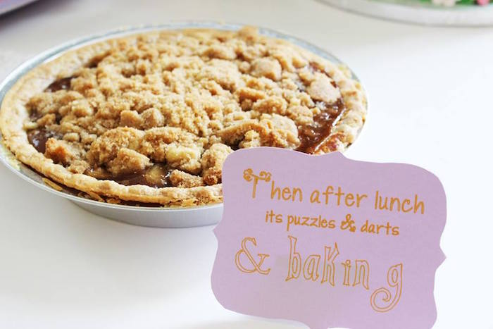 Pie from a Rapunzel Birthday Party on Kara's Party Ideas | KarasPartyIdeas.com (7)