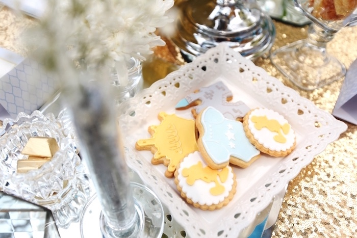 Cookies from a Royal Mickey Mouse Baby Shower on Kara's Party Ideas | KarasPartyIdeas.com (16)