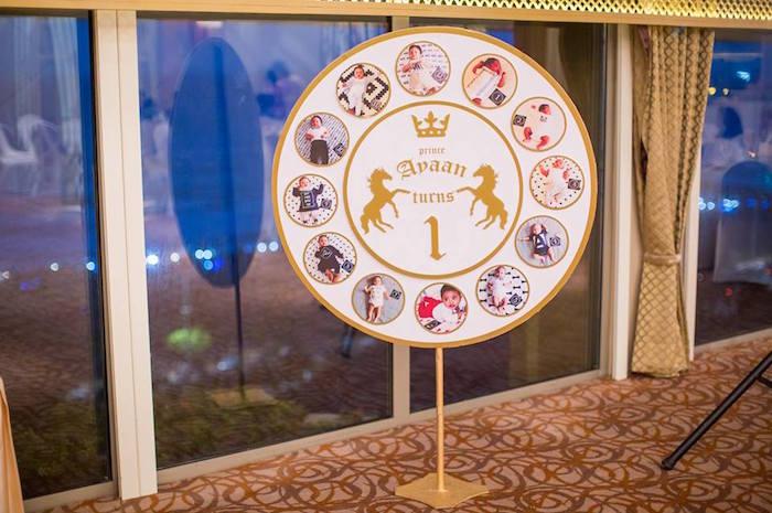 Photo board from a Royal Prince 1st Birthday Party on Kara's Party Ideas | KarasPartyIdeas.com (17)