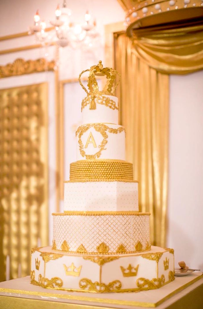 Royal cake from a Royal Prince 1st Birthday Party on Kara's Party Ideas | KarasPartyIdeas.com (4)