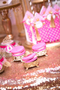 Hot pink princess macarons from a Royal Princess Baby Shower on Kara's Party Ideas | KarasPartyIdeas.com (15)