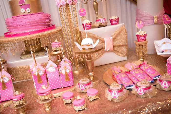 Table details from a Royal Princess Baby Shower on Kara's Party Ideas | KarasPartyIdeas.com (26)