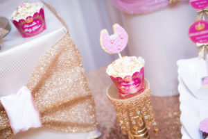 Cupcake with bib cookie topper from a Royal Princess Baby Shower on Kara's Party Ideas | KarasPartyIdeas.com (7)