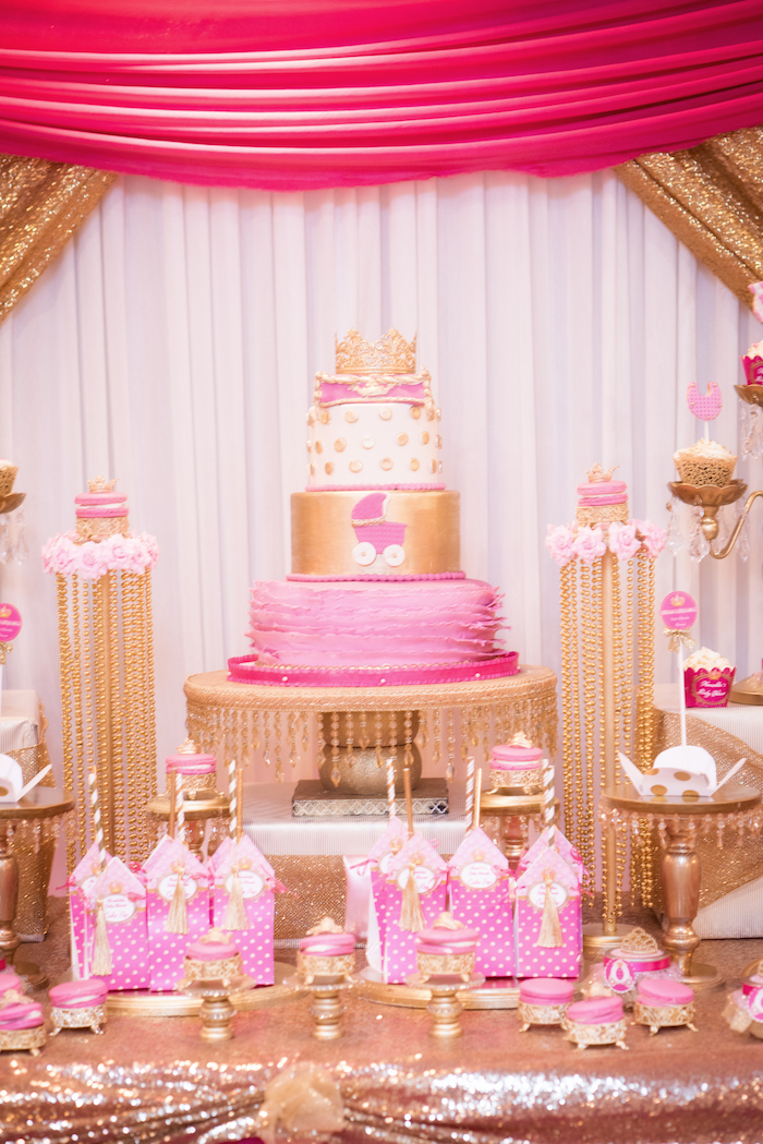 Cakescape from a Royal Princess Baby Shower on Kara's Party Ideas | KarasPartyIdeas.com (5)
