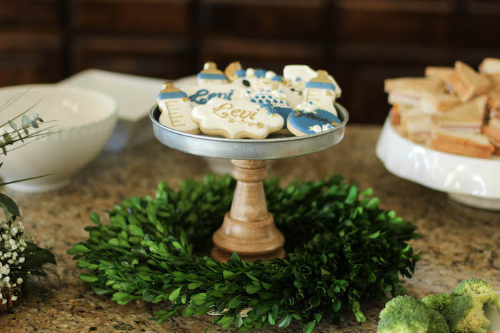 Cookie platter from a Rustic Boho Boy Baby Shower on Kara's Party Ideas | KarasPartyIdeas.com (18)
