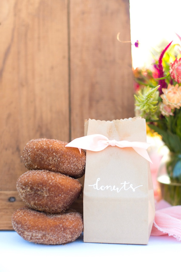 Donut favor bags from a Rustic, Elegant Farm-to-Table Party on Kara's Party Ideas | KarasPartyIdeas.com (10)