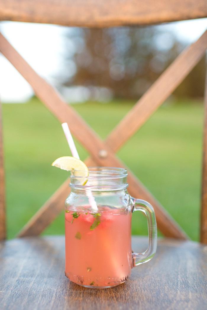 Mason jar drink from a Rustic, Elegant Farm-to-Table Party on Kara's Party Ideas | KarasPartyIdeas.com (8)