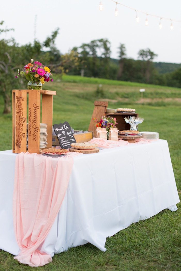 Dessert table from a Rustic, Elegant Farm-to-Table Party on Kara's Party Ideas | KarasPartyIdeas.com (7)