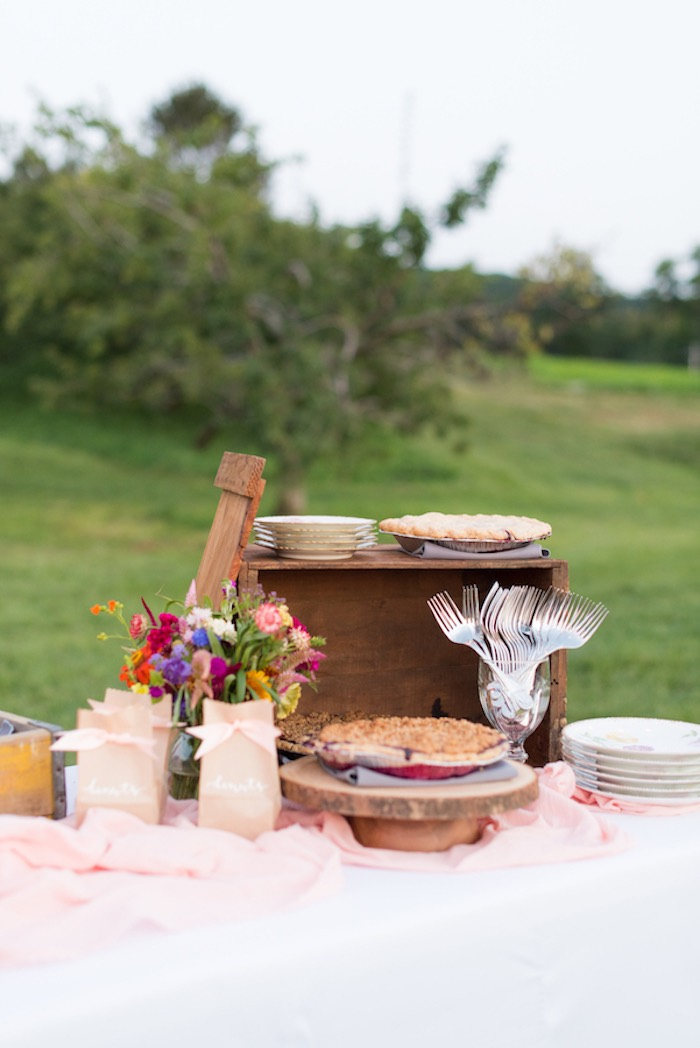 Sweet table from a Rustic, Elegant Farm-to-Table Party on Kara's Party Ideas | KarasPartyIdeas.com (6)