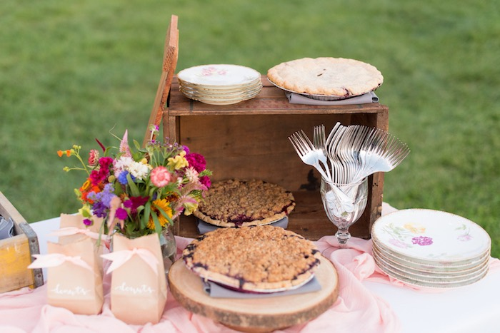 Pies from a Rustic, Elegant Farm-to-Table Party on Kara's Party Ideas | KarasPartyIdeas.com (5)