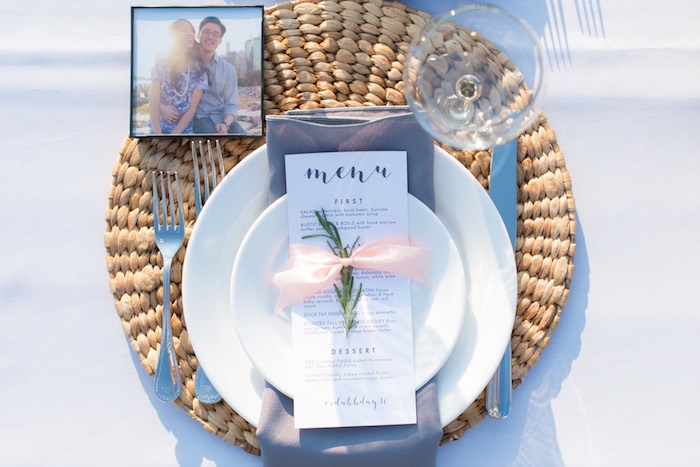Place setting from a Rustic, Elegant Farm-to-Table Party on Kara's Party Ideas | KarasPartyIdeas.com (24)