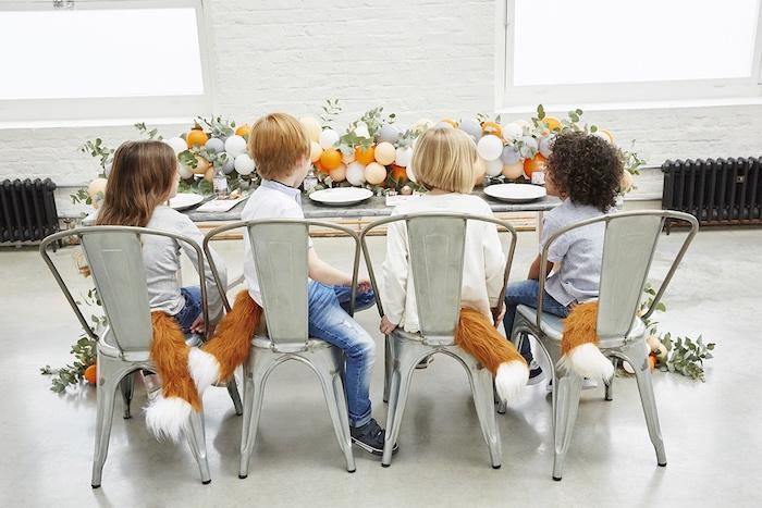 Tea table from a Rustic Modern Woodland Party on Kara's Party Ideas | KarasPartyIdeas.com (8)