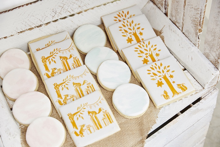 Woodland sugar cookies from a Rustic Modern Woodland Party on Kara's Party Ideas | KarasPartyIdeas.com (19)