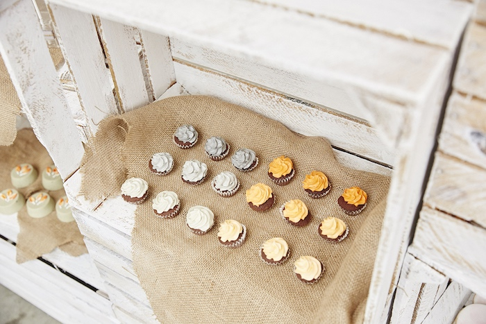 Cupcakes from a Rustic Modern Woodland Party on Kara's Party Ideas | KarasPartyIdeas.com (16)