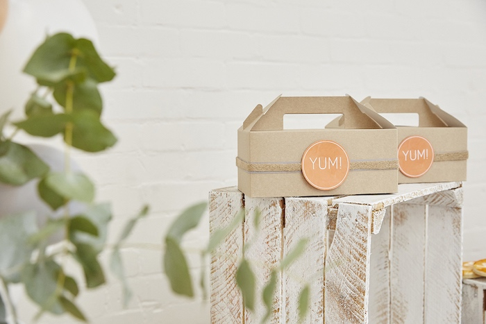 Food boxes from a Rustic Modern Woodland Party on Kara's Party Ideas | KarasPartyIdeas.com (15)