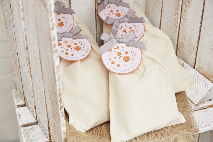 Drawstring party bags from a Rustic Modern Woodland Party on Kara's Party Ideas | KarasPartyIdeas.com (13)