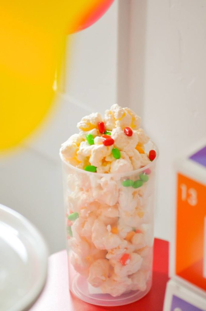 Science Atom + Cell Snack Mix Recipe via Kara's Party Ideas