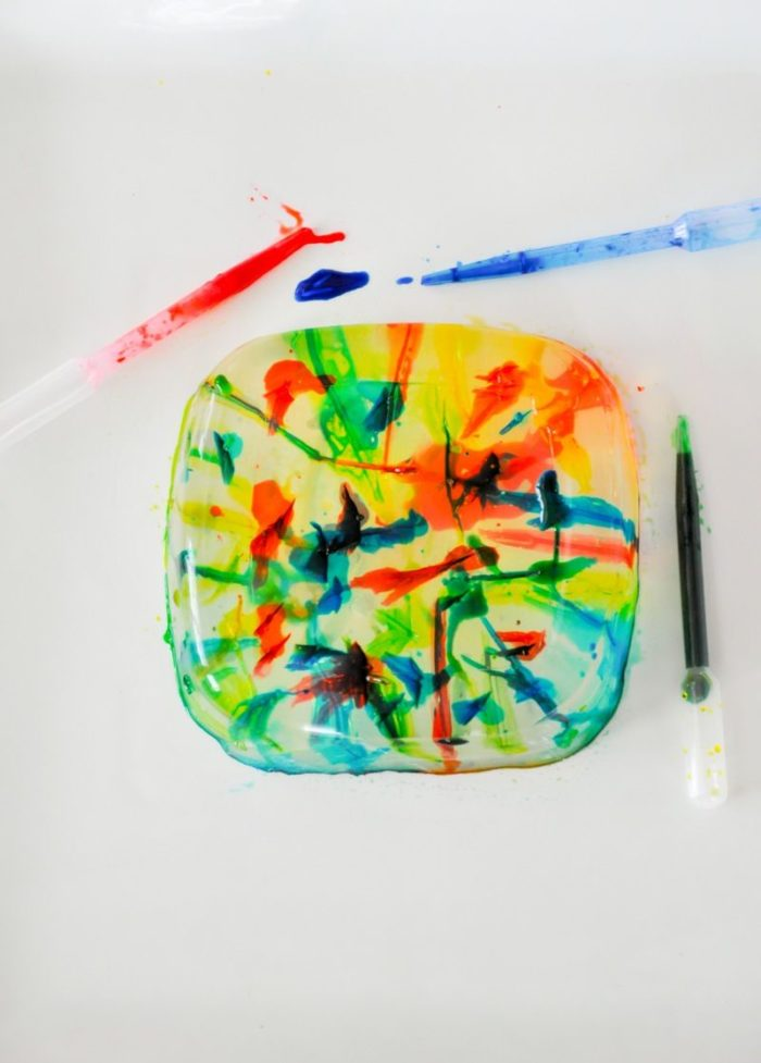 Gelatin Art Science Dropper Activity DIY via Kara's Party Ideas