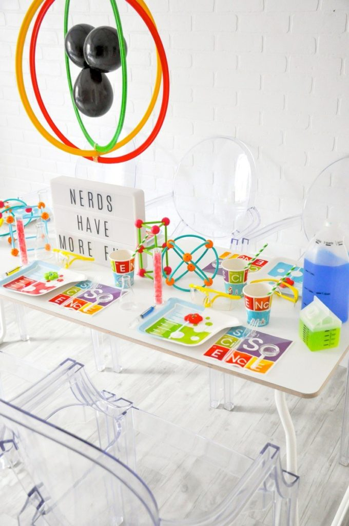 Modern Science Party for Kids Styled By Kara from Kara's Party Ideas for Oriental Trading