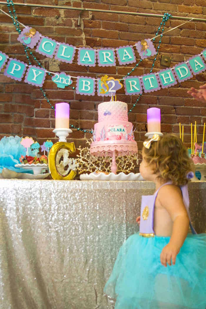 Shimmering Mermaid Birthday Party on Kara's Party Ideas | KarasPartyIdeas.com (9)
