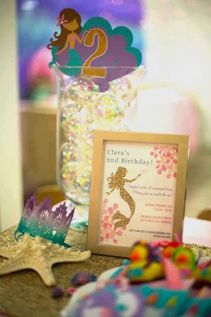 Mermaid print from a Shimmering Mermaid Birthday Party on Kara's Party Ideas | KarasPartyIdeas.com (7)