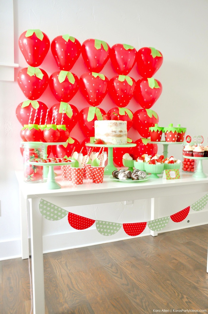 Kara's Party Ideas Berry Sweet Strawberry Valentine's Day