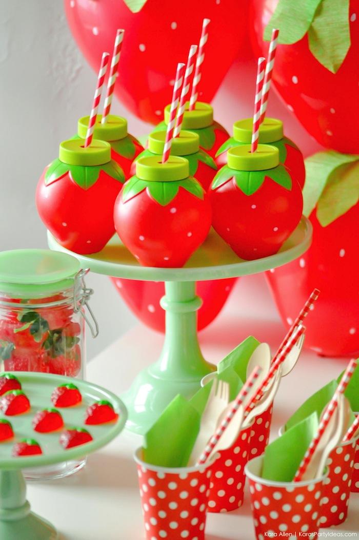 Valentines By Kylie Cosmetics: Kara's Party Ideas Berry Sweet Strawberry Valentine's Day
