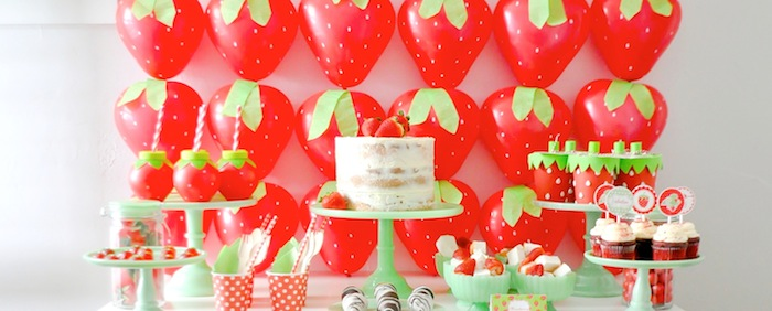 Kara S Party Ideas Berry Sweet Strawberry Valentine S Day