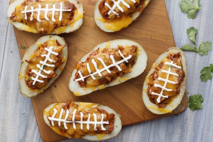 Texas Tater Potato Football Recipe via Kara's Party Ideas