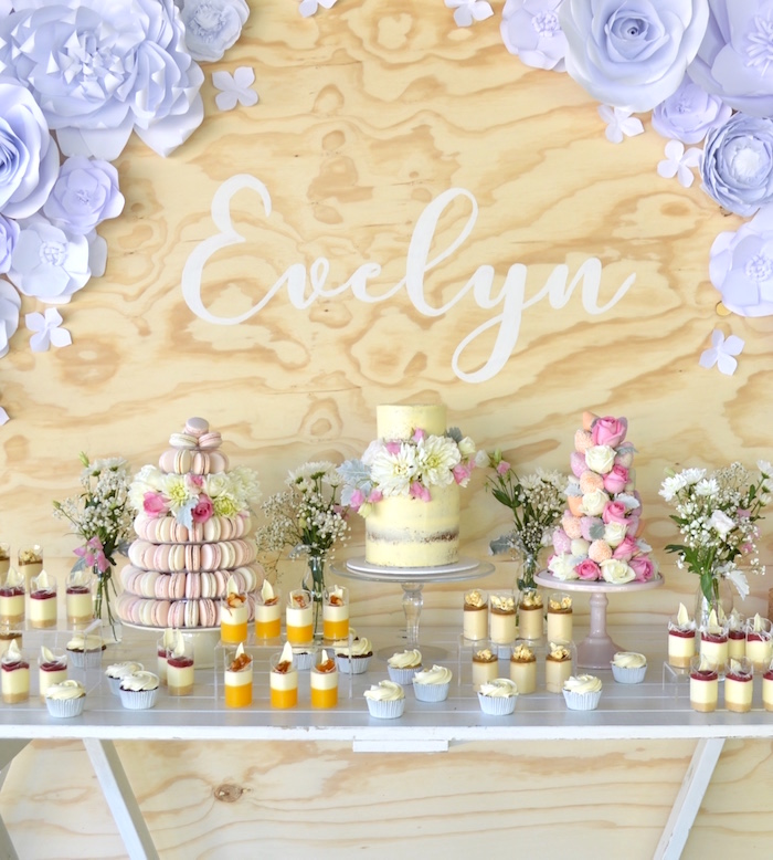 Sweet Floral First Birthday Party on Kara's Party Ideas | KarasPartyIdeas.com (5)