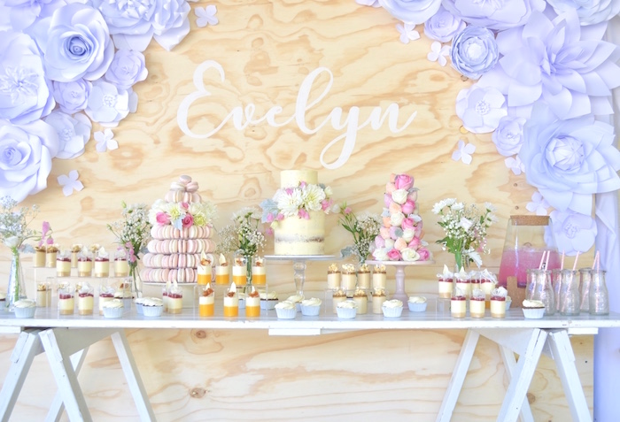 Sweet Floral First Birthday Party on Kara's Party Ideas | KarasPartyIdeas.com (3)